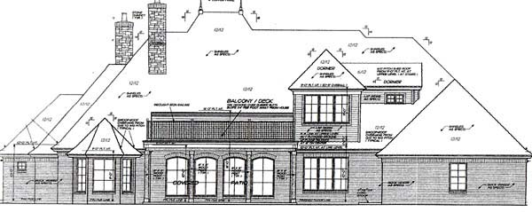 Bungalow European French Country Traditional House Plan 66115 Rear Elevation