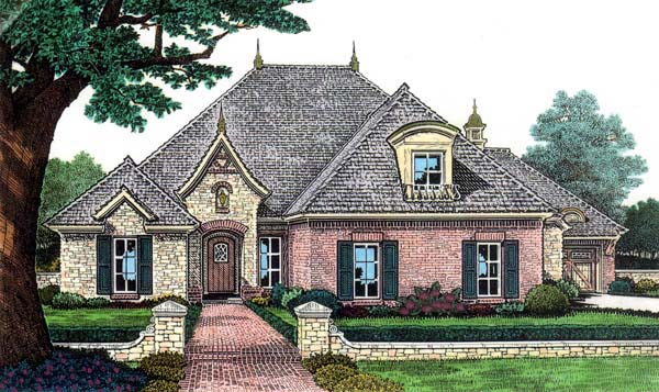 European House Plan 66116 Elevation