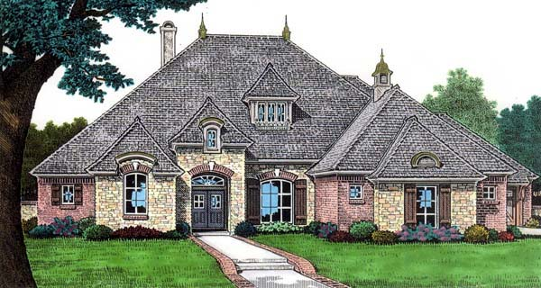 European House Plan 66118 Elevation