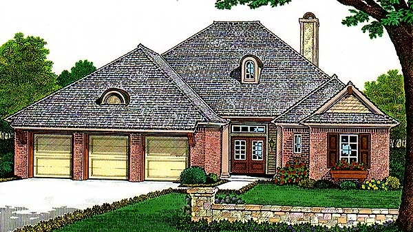 House Plan 66120 Elevation