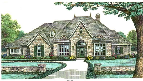 House Plan 66121 Elevation