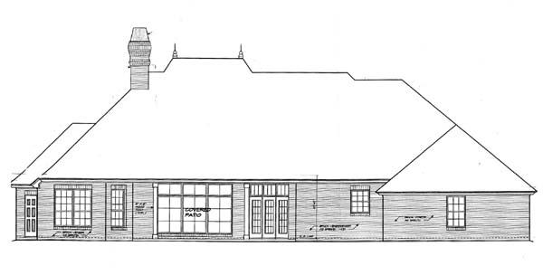 House Plan 66121 Rear Elevation