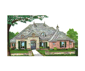 House Plan 66122 | Style Plan with 3535 Sq Ft, 5 Bedrooms, 5 Bathrooms, 3 Car Garage Elevation
