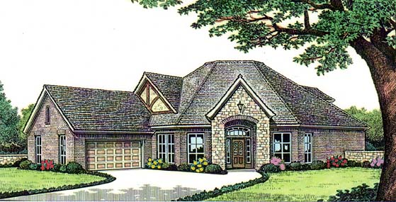 French Country House Plan 66123 Elevation