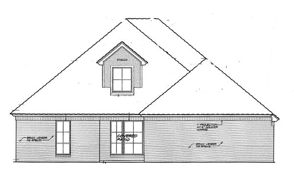House Plan 66123   French Country Style Plan with 3053 Sq Ft, 3 Bedrooms, 3 Bathrooms, 3 Car Garage Rear Elevation