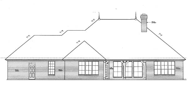 House Plan 66124 Rear Elevation