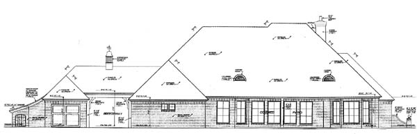 House Plan 66125 | European Style Plan with 3423 Sq Ft, 4 Bedrooms, 4 Bathrooms, 3 Car Garage Rear Elevation