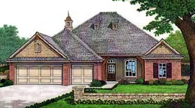 House Plan 66128 with 3 Beds, 3 Baths, 3 Car Garage Elevation