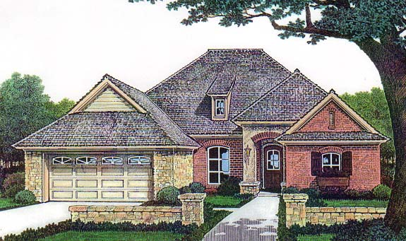 House Plan 66134 Elevation