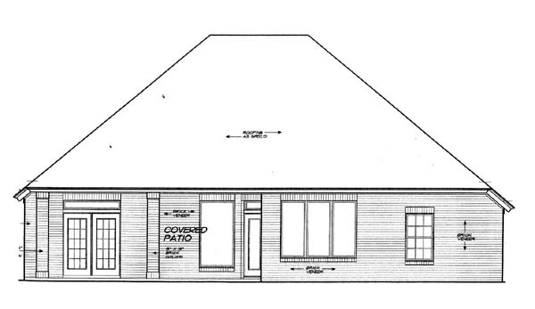 House Plan 66134 Rear Elevation
