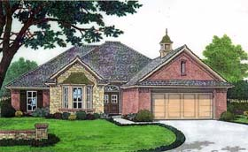 House Plan 66135 | Style Plan with 1792 Sq Ft, 3 Bedrooms, 2 Bathrooms, 2 Car Garage Elevation