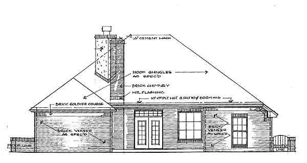 House Plan 66141 Rear Elevation
