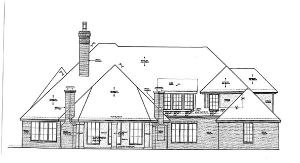 French Country Traditional House Plan 66142 Rear Elevation