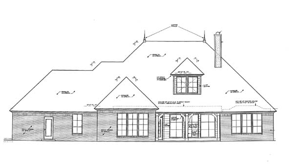 Traditional House Plan 66143 Rear Elevation