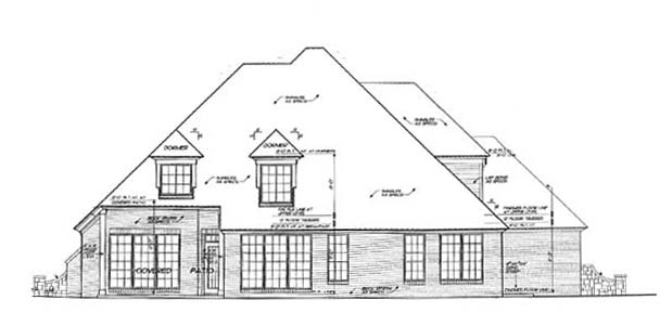 Traditional House Plan 66144 Rear Elevation