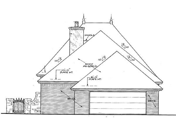 House Plan 66145 Rear Elevation