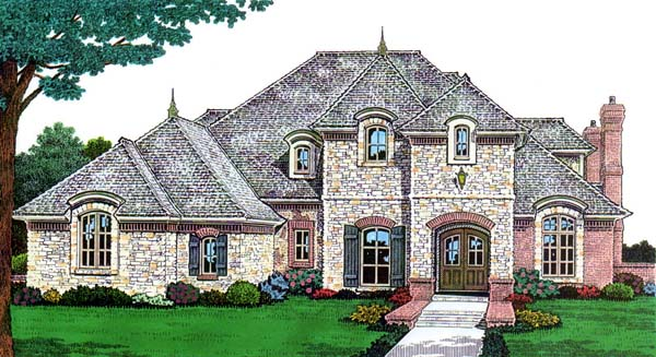 European French Country House Plan 66146 Elevation