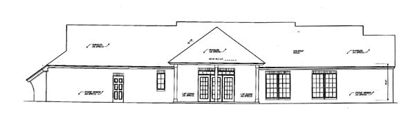 House Plan 66148 Rear Elevation