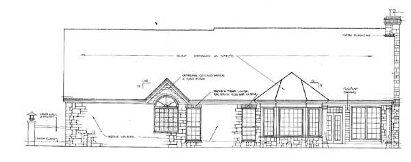 House Plan 66149 Rear Elevation