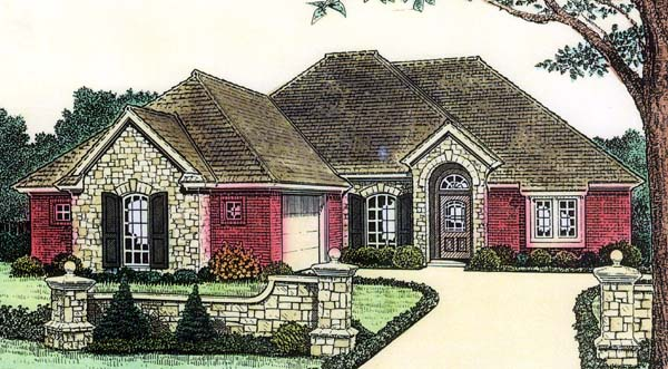 House Plan 66150 Elevation