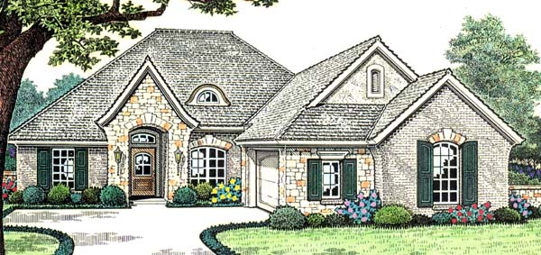House Plan 66152 Elevation