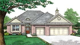 House Plan 66154 with 3 Beds, 2 Baths, 3 Car Garage Elevation