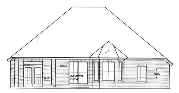 House Plan 66156 Rear Elevation