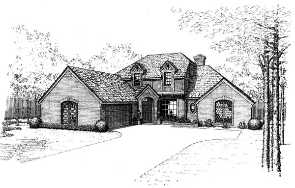 Traditional House Plan 66157 Elevation