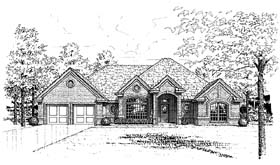 European House Plan 66165 Elevation