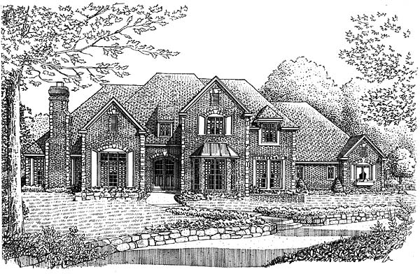 European French Country House Plan 66168 Elevation