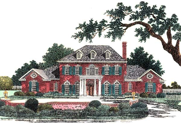 Colonial French Country House Plan 66169 Elevation