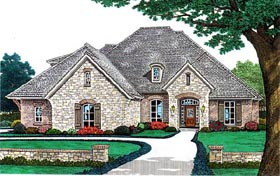 House Plan 66172 | Country European French Country Style Plan with 3528 Sq Ft, 4 Bedrooms, 4 Bathrooms, 3 Car Garage Elevation