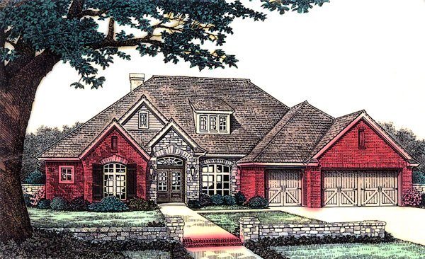 Traditional House Plan 66173 Elevation