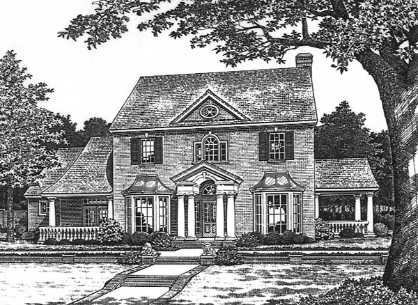 Colonial House Plan 66174 Elevation