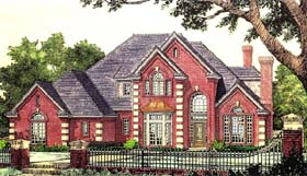 French Country Victorian House Plan 66175 Elevation
