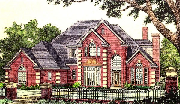 Victorian , French Country House Plan 66175 with 4 Beds, 4 Baths, 3 Car Garage Elevation