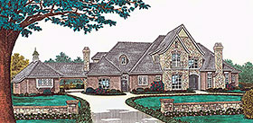 Victorian House Plan 66176 with 4 Beds, 4 Baths, 3 Car Garage Elevation