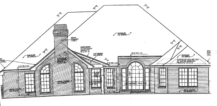 Traditional House Plan 66177 Rear Elevation