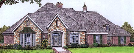 Traditional House Plan 66181 with 4 Beds, 4 Baths, 3 Car Garage Elevation