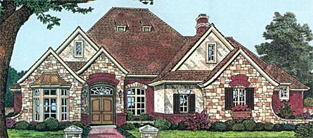 Traditional House Plan 66182 Elevation