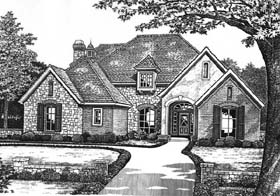 House Plan 66183 | French Country Traditional Style Plan with 3056 Sq Ft, 4 Bedrooms, 4 Bathrooms, 3 Car Garage Elevation