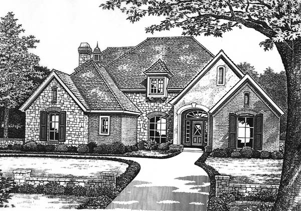 French Country Traditional House Plan 66183 Elevation