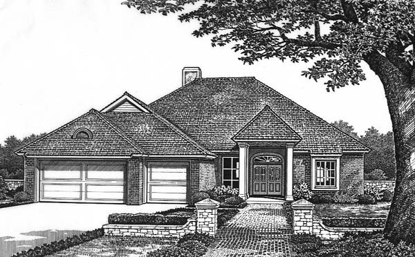 Traditional House Plan 66184 Elevation