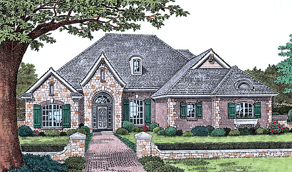 Traditional Elevation of Plan 66186