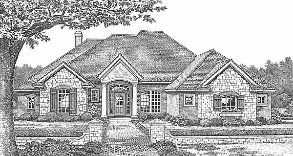 Traditional House Plan 66189 Elevation