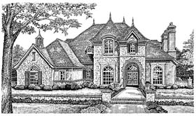 Victorian , French Country House Plan 66193 with 4 Beds, 4 Baths, 3 Car Garage Elevation