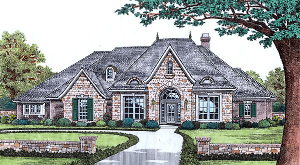 Traditional House Plan 66198 Elevation