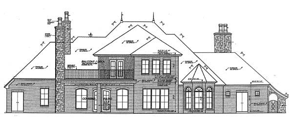 European French Country House Plan 66202 Rear Elevation