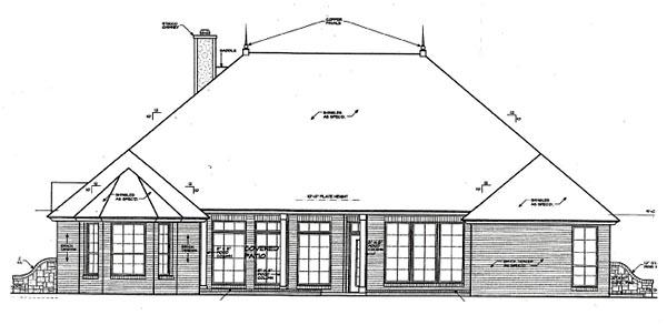 House Plan 66203 Rear Elevation