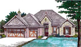 Traditional House Plan 66204 with 3 Beds, 3 Baths, 3 Car Garage Elevation